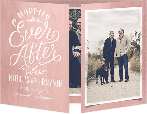 Scripted Ever After Wedding Invitation
