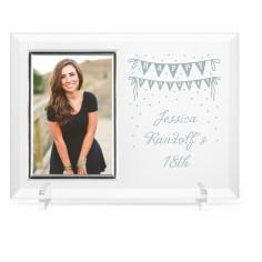 birthday banner glass frame