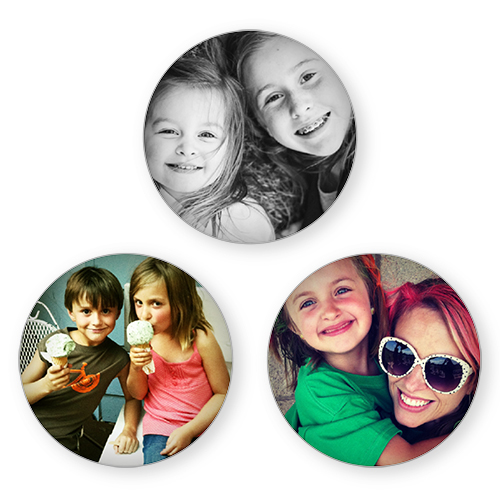 Photo Gallery Set of 3 Glass Magnets