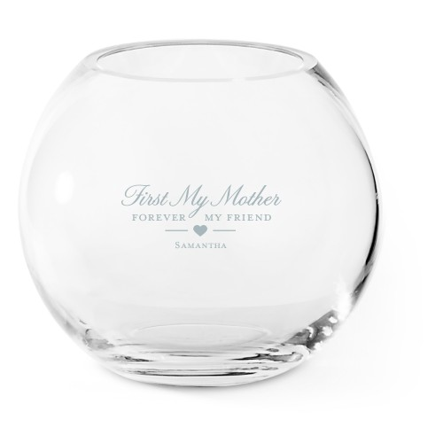 Forever My Friend Glass Vase, Glass Vase (Round), Glass Vase Double Sided, White