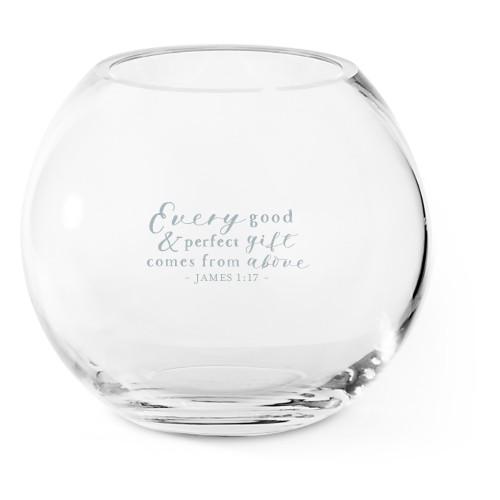 Perfect Gift Glass Vase, Glass Vase (Round), Glass Vase Double Sided, White