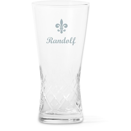 Fleur De Lis Glass Vase, Glass Vase (Trumpet), Glass Vase Double Sided, White