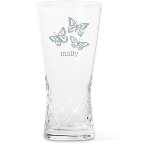 Beautiful Butterflies Glass Vase, Glass Vase (Trumpet), Glass Vase Double Sided, White