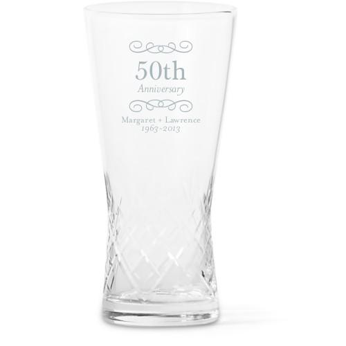 Happiest Anniversary Glass Vase
