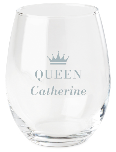 Crown Queen Wine Glass