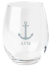 anchors away wine glass
