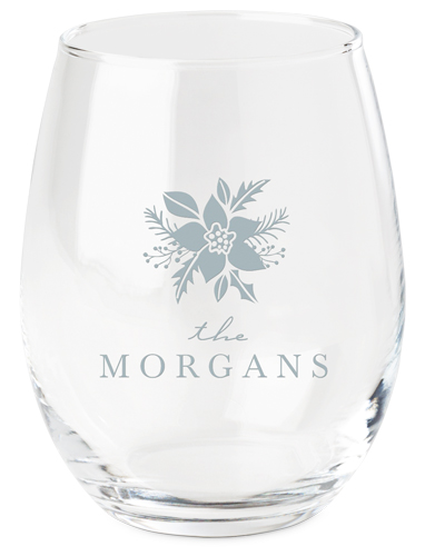 Poinsettia Wine Glass