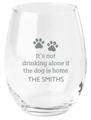 drinking with dog wine glass