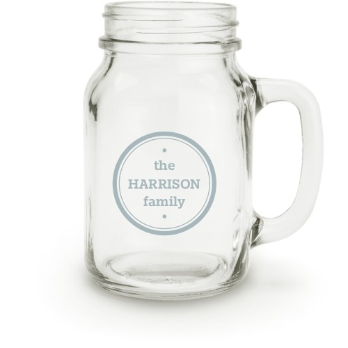 Circle Family Seal Mason Jar, White