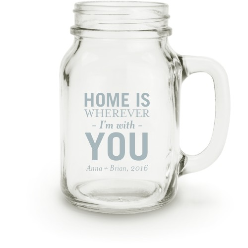 In Your Own Words Mason Jar, White