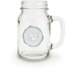 hand drawn wood heart mason jar