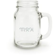 trad monogram mason jar