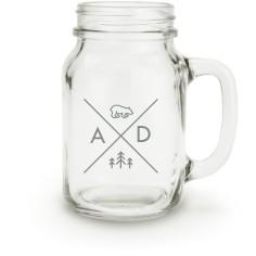 bear adventure mason jar