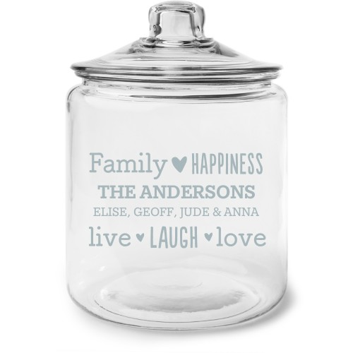 Family Sentiment Glass Jar