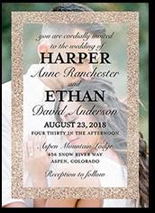 Glitter Wedding Invitations Shutterfly