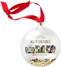 colorful christmas glitter ornament