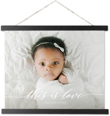 this is love hanging canvas print
