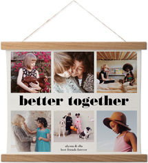 better together collage hanging canvas print