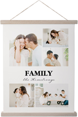 picture gallery collage of five hanging canvas print