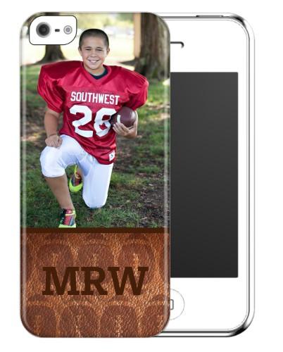 Football Monogram iPhone Case, Slim case, Matte, iPhone 5/5S, Brown