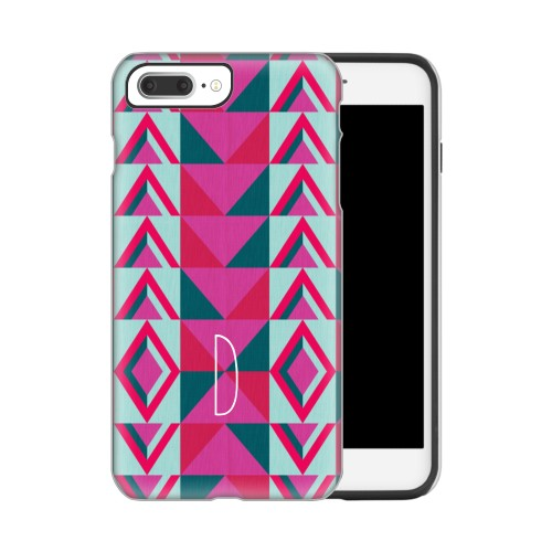 Bright Boho iPhone Case, Silicone liner case, Glossy, IPhone 7 Plus, Pink