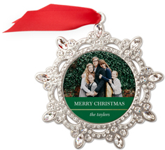 classic colorblock jeweled ornament