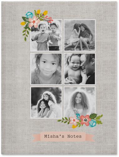 Floral Frame Journal, Beige