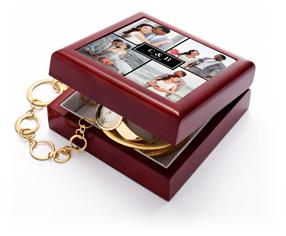classic initial wedding keepsake box