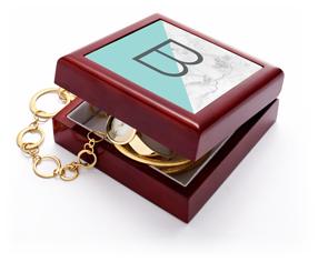monogram colorblock keepsake box
