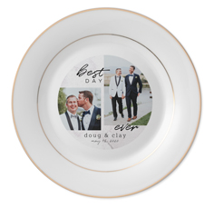 modern best day keepsake plate