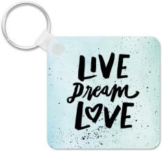 live dream love splatters key ring