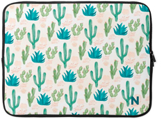 cacti print laptop case