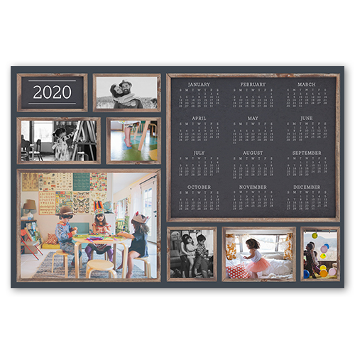 Rustic Wood Frames Calendar