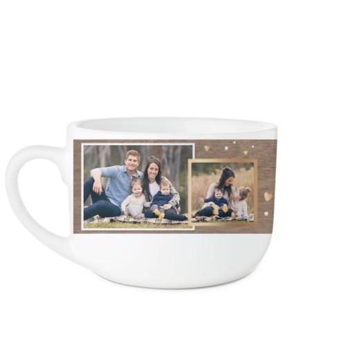 Family Overlap Collage Latte Mug, White,  , 25oz, Brown