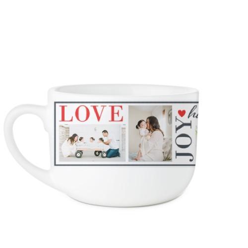 Love Joy Family Latte Mug, White,  , 25oz, White