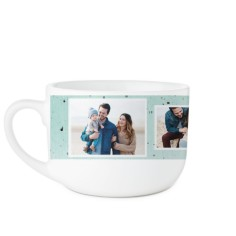 splatter latte mug