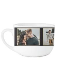 classic foliage monogram latte mug