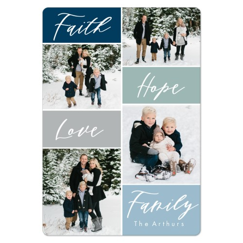 Faith Hope Love Family Magnet