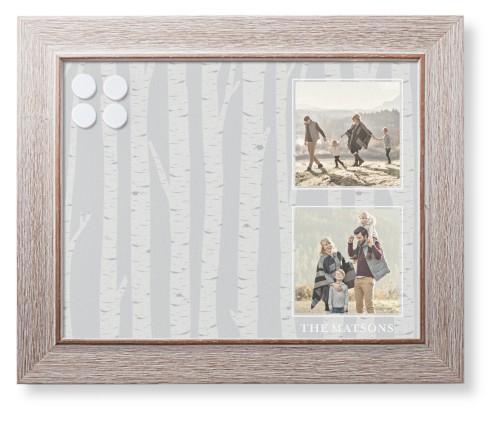 Rustic Birch Framed Magnetic Board | Shutterfly