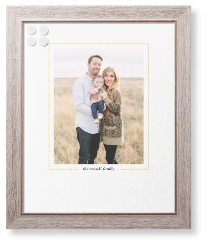 Simply Framed Framed Magnetic Board, Rustic, Modern, 16 x 20 inches, White