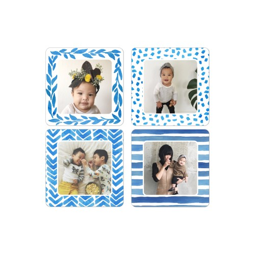 Watercolor Patterned Frame 2x2 Magnet