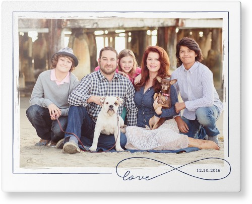 Love Infinity Outline Metal Wall Art, Single piece, 8 x 10 inches, True Color / Glossy, White