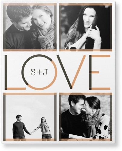 Modern Love Metal Wall Art, Single piece, 8 x 10 inches, True Color / Matte, White
