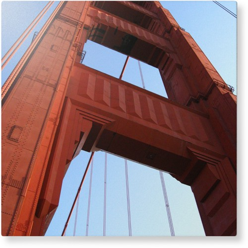 Photo Gallery Portrait Metal Wall Art, Single piece, 12 x 12 inches, True Color / Glossy, ...