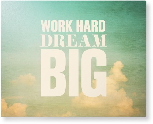 Work Dream Big Metal Wall Art, Single piece, 16 x 20 inches, True Color / Glossy, White