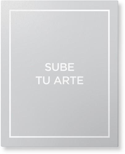 Sube Tu Arte Metal Wall Art, Single piece, 16 x 20 inches, True Color / Glossy, Multicolor