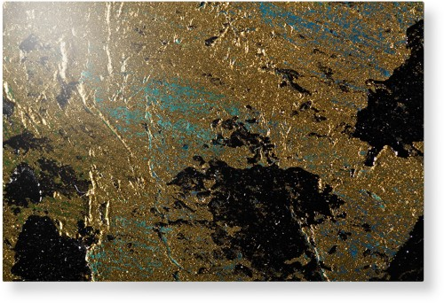 Brushed Printed Foil Metal Wall Art, Single piece, 20 x 30 inches, True Color / Matte, Multicolor