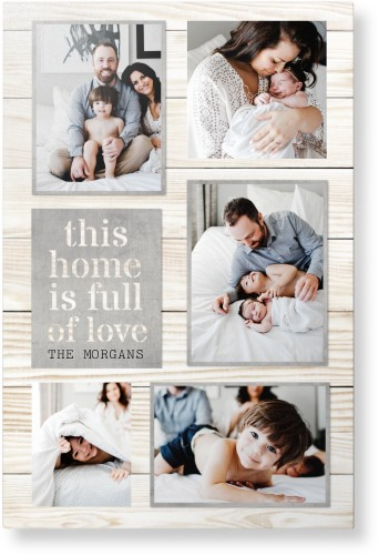 Full of Love Metal Wall Art, Single piece, 20 x 30 inches, True Color / Matte, Gray