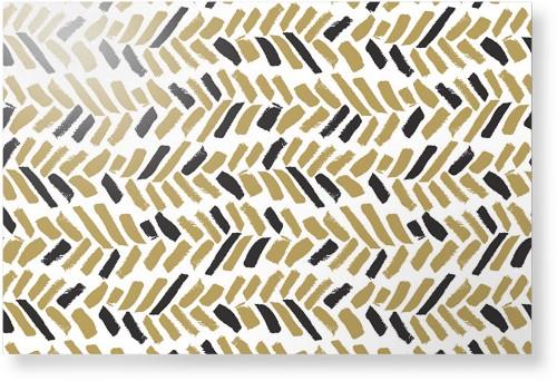 Herringbone Brushstroke Metal Wall Art, Single piece, 24 x 36 inches, True Color / Matte, ...