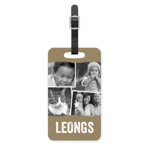Craft Collage Luggage Tag